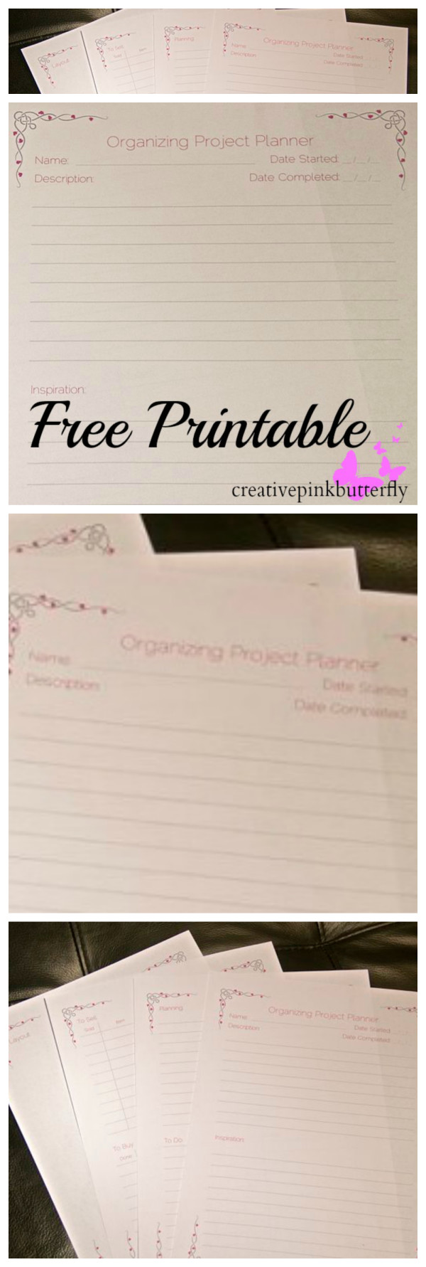 Organizing Project Planner - Free Printable