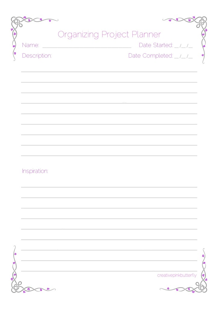Organizing Project Planner 1