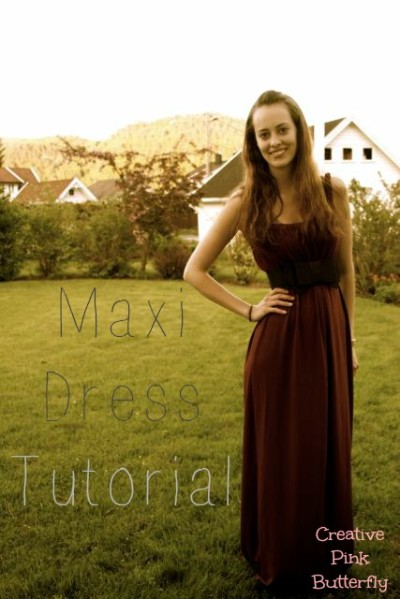 Red Maxi Dress Tutorial - 28