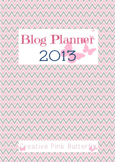 blog planner cover page creative pink butterfly