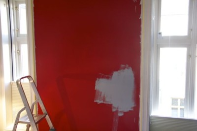 Painting one wall, what a difference. - 01