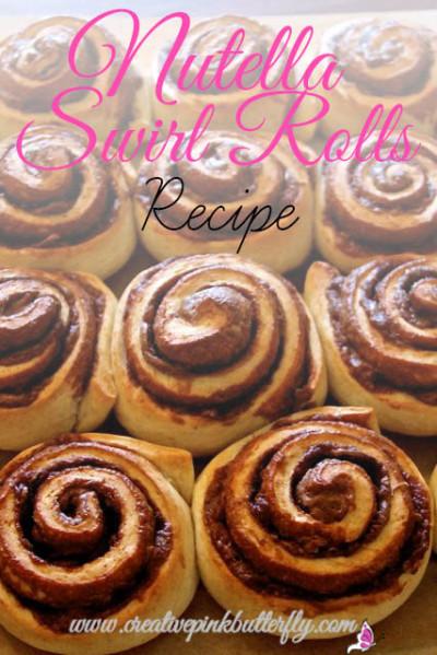 Nutella Swirl Rolls Recipe