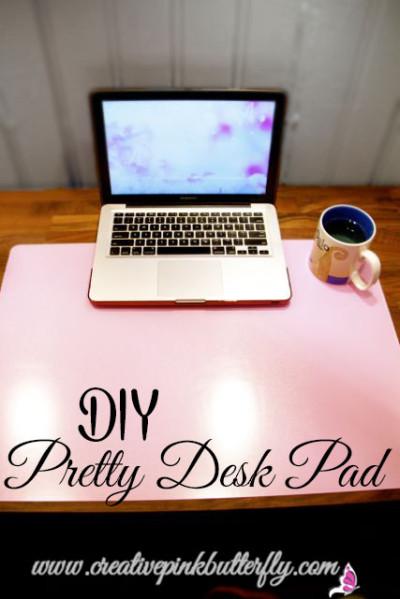 DIY Pretty Desk Pad