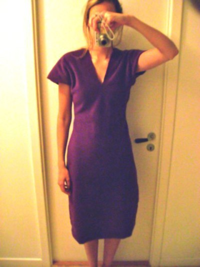 Purple Fleece Dress - 6