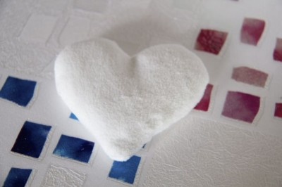 White Fleece Heart - 07
