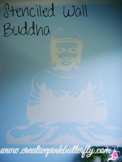 Stenciled Wall Buddha
