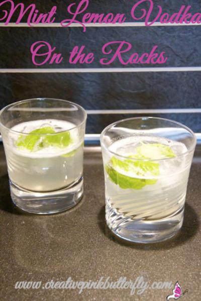 Mint Lemon Vodka On The Rocks