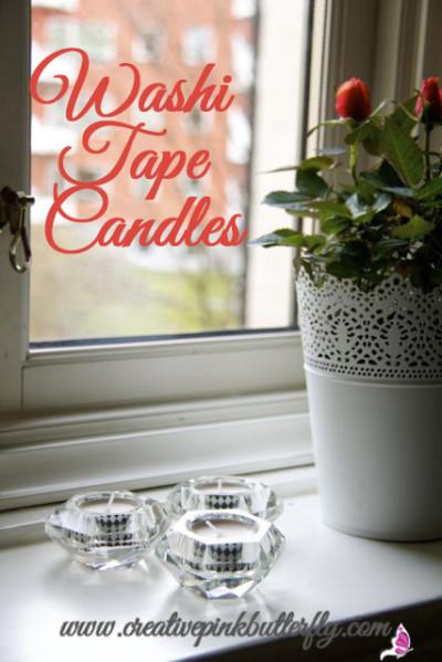 Washi Tape Candles