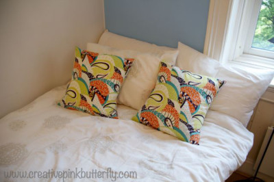 Funky Green Orange Purple Pillows