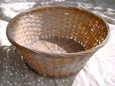 Spray Painted Blue Basket - 2
