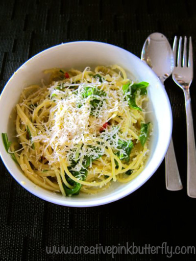 spaghetti with asparagus and arugula recipe