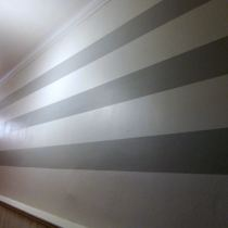 How To Paint Stripes on a Wall - 13