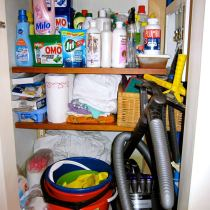 Organizing Cleaning Supply Closet After
