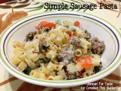 This Simple Sausage Pasta can be made in just 30 minutes using a few ingredients for a delicious and light pasta dish.