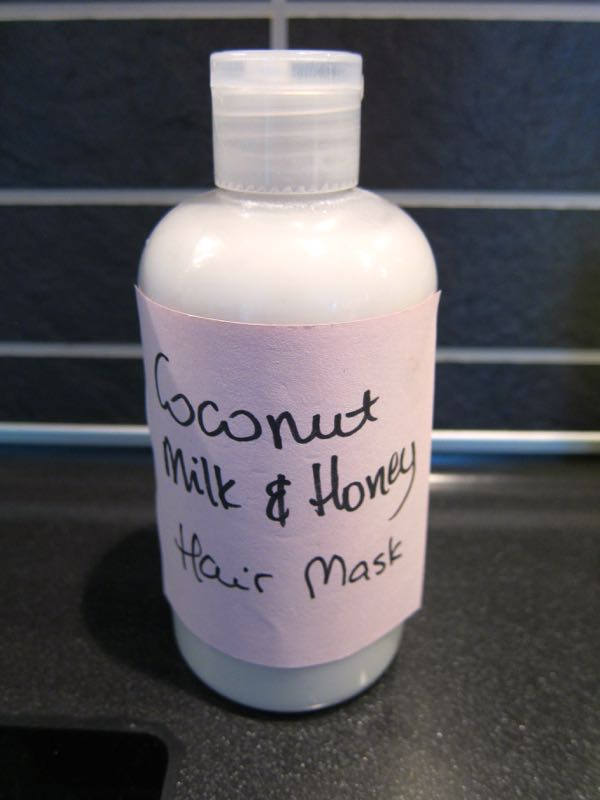 how to make coconut milk and honey hair mask