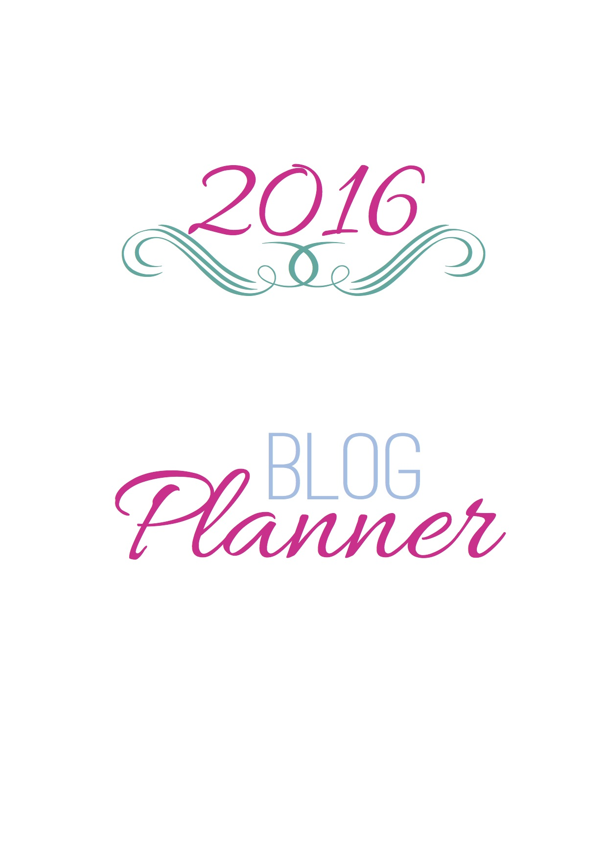 {Etsy Giveaway} 2016 Blog Planner Customised