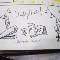 Bullet Journal Supplies Party
