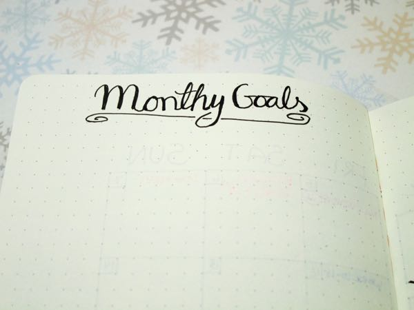 Bullet Journal February Goals