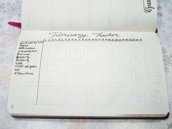 Bullet Journal February Tracker