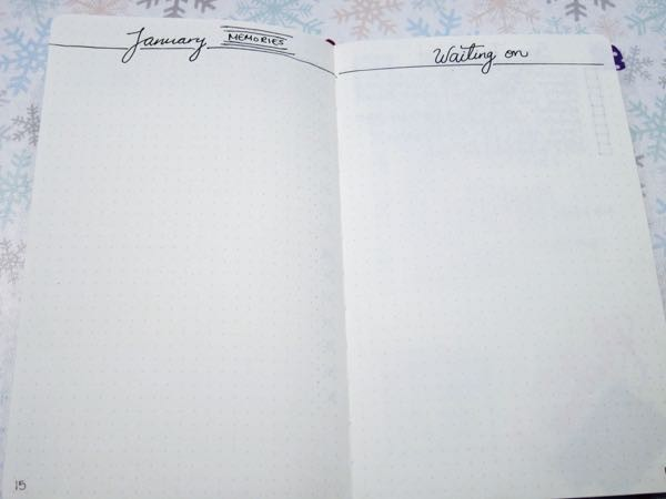 Bullet Journal Memories Waiting On