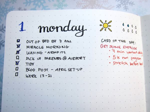 Bullet Journal April Dailies