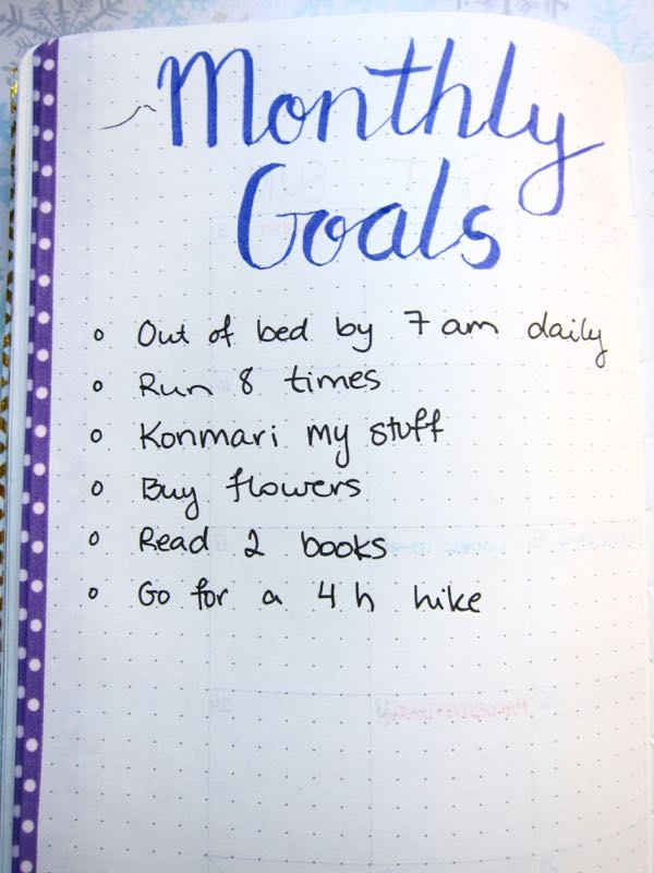 Bullet Journal April Goals