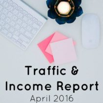 traffic and income report april 2016