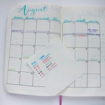Bullet Journal- August set-up - 1 of 5