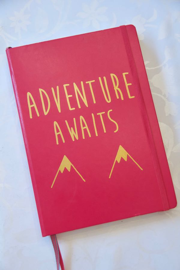 bullet journal cover adventure awaits decal berry gold creative